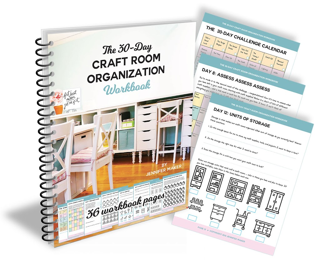 Craft Room Organization Workbook + Bonus