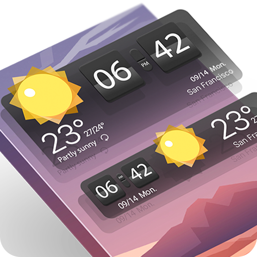 Weather & Clock Widget-Apollo