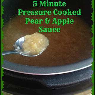 5 Minute Pressure Cooked Pear & Apple Sauce