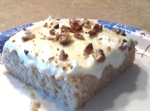 Banana Butter Pecan Cake W/ Cream Cheese Frosting