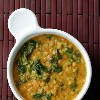 Toor Dal Curry with Spinach (Toor Palak Dal).