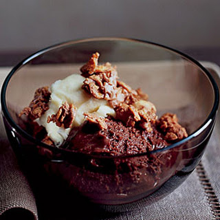 Silky Chocolate Mousse with Peanut Butter Crunch