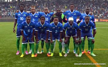 Photo: Leone Stars Match Squad   [Leone Stars v DR Congo, 10 September 2014 (Pic © Darren McKinstry / www.johnnymckinstry.com)]