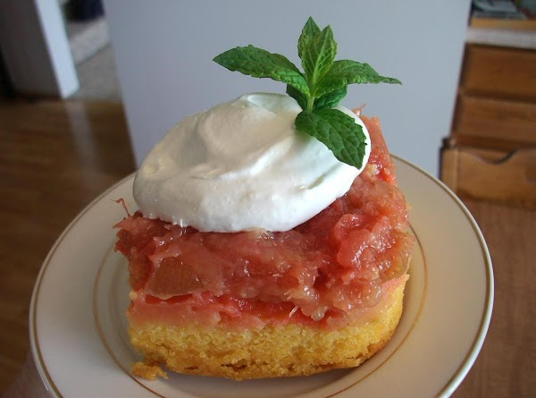 Rhubarb Pineapple Upside-down Cake Recipe