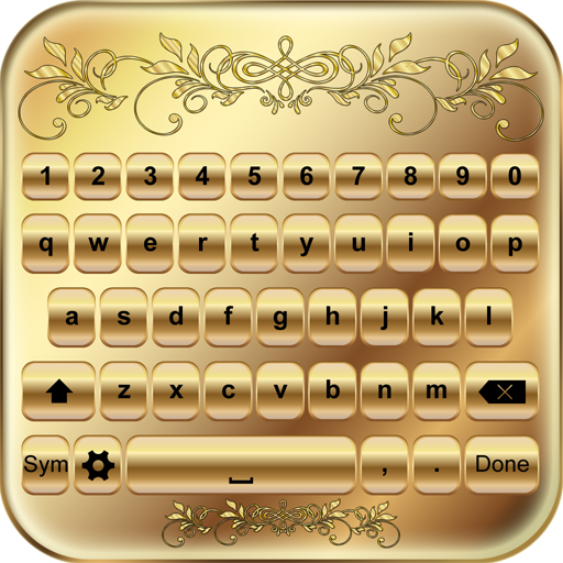 Gold Keyboard Custom Themes