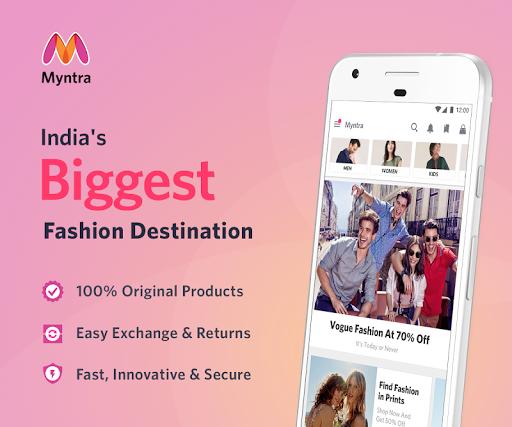 606dc8fbbda9 Myntra Online Shopping App - Revenue   Download estimates ...