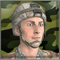 Military training soldiers icon