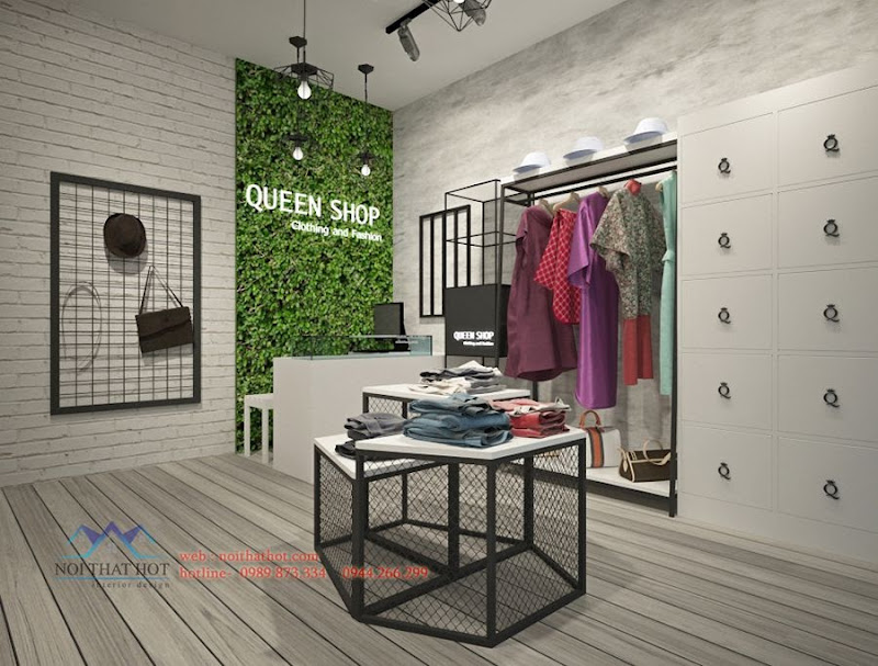 thiết kế shop thời trang Queen Fashion