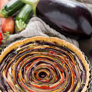 Vegan Vegetable Spiral Tart Recipe