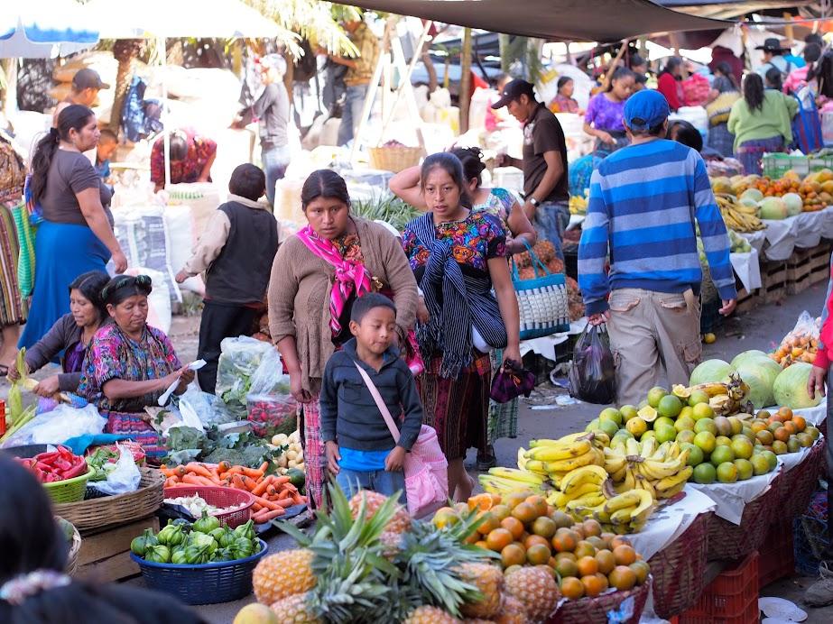 Sunday market in Panajachel, Guatemala