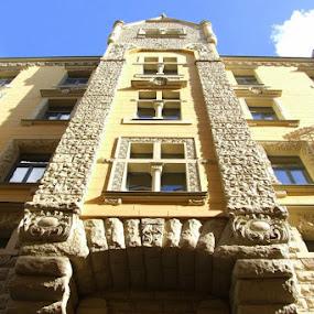 old hotel by Oleg Verjovkin - Buildings & Architecture Office Buildings & Hotels ( riga, old, latvia, hotel )