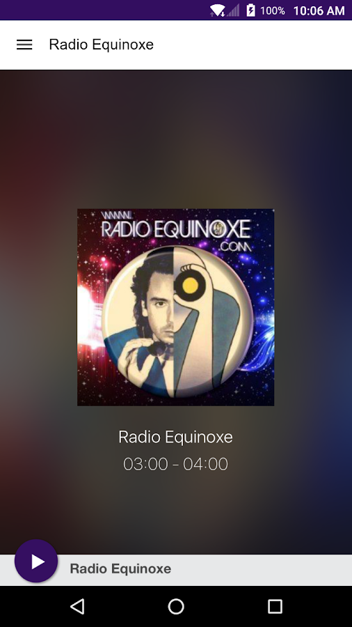 Radio Equinoxe- screenshot