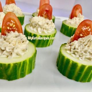 Keto Herb and Garlic Cucumber Bites.