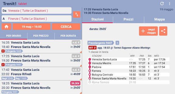 Trenit: find trains in Italy- screenshot thumbnail