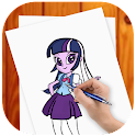 how to draw Equestria Girls ✍ icon
