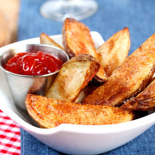 Baked Steak Fries and Smokey Ketchup