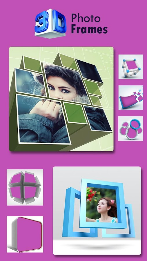 3d collage photo frame android apps on google play. Black Bedroom Furniture Sets. Home Design Ideas
