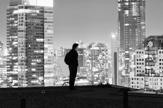Photo: [Just What the Doctor Ordered] A prescription for more rooftops is just what Dr. +Ronnie Yip ordered.  ISO: 3200 Shutter: 0.3 seconds Aperture: F/2.8 Camera: Canon 5d mk ii Lens: Canon 100mm F/2.8 L  #toronto  #rooftopping #blackandwhite #urbe #urbanexploration