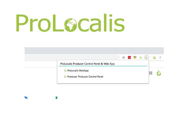 ProLocalis Web App & Producer Control Panel