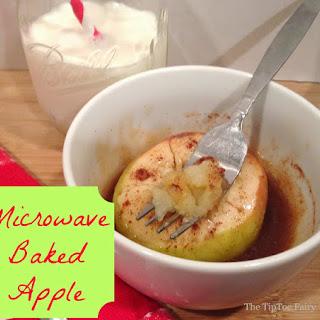 Microwaved Baked Apples.