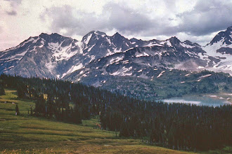 Photo: 52. Lyman Lake and DumbeII Mountain from Cloudy Pass.