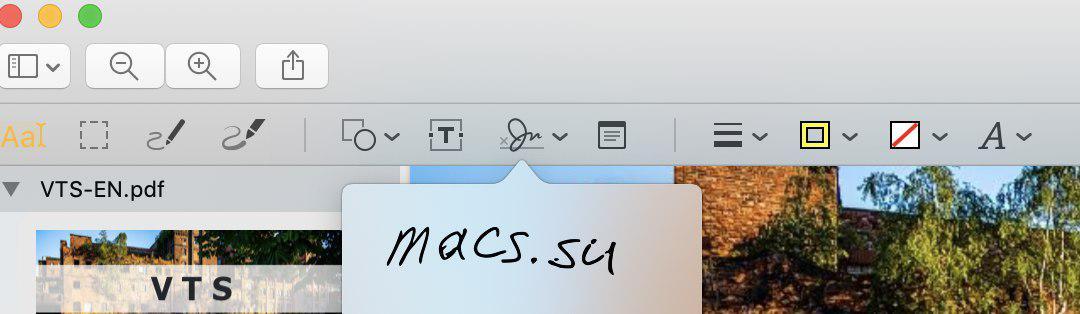 готовая подпись Mac OS Preview