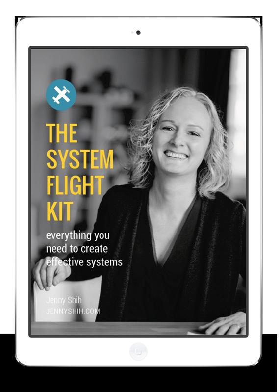 system flight kit from jenny shih