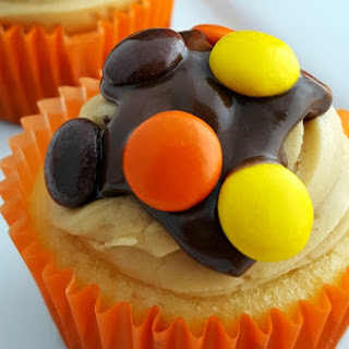 Reese'S Pieces Cupcakes with Chocolate Peanut Butter Ganache Recipe