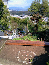 Photo: View from the top of the Hidden Garden Steps (16th Avenue, between Kirkham and Lawton streets in San Francisco's Inner Sunset District) in early April 2014. New and returning volunteers are welcome to join volunteer-driven community-based gardening and clean-up efforts on the second Saturday of each month from 1- 3 pm.   For more information about the Steps and the 148-step ceramic-tile mosaic completed by project artists Aileen Barr and Colette Crutcher, please visit our website (http://hiddengardensteps.org), view links about the project from our Scoopit! site (http://www.scoop.it/t/hidden-garden-steps), or follow our social media presence on Twitter (https://twitter.com/GardenSteps), Facebook (https://www.facebook.com/pages/Hidden-Garden-Steps/288064457924739) and many others.