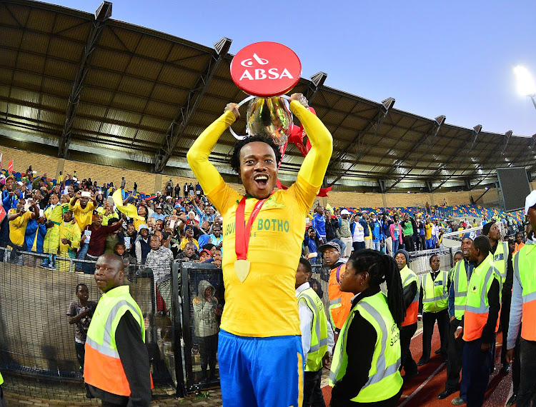 Mamelodi Sundowns star forward Percy Tau is expected to win big at the Premier Soccer Leaugue end of the season Awards gala dinner.