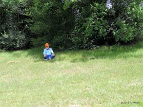 Photo: George Leventon, resting in the shade.  12:25 PM  HALS Public Run Day  2016-0716  RPWhite