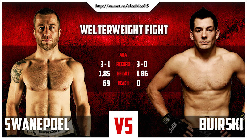 Photo: Swanepoel vs. Buirski: 'EFC Africa™ 15' - MMA - The vacant Light-Heavyweight title is up for grabs on Friday, July 27, 2012. $185 in Gauteng. http://numet.ro/efcafrica15