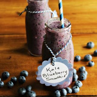 Kale Blueberry Smoothie.