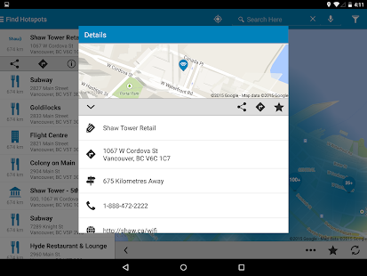 Shaw Go WiFi Finder- screenshot thumbnail