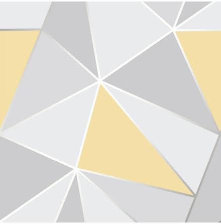 Apex geometrisk tapet - Gul FD41991