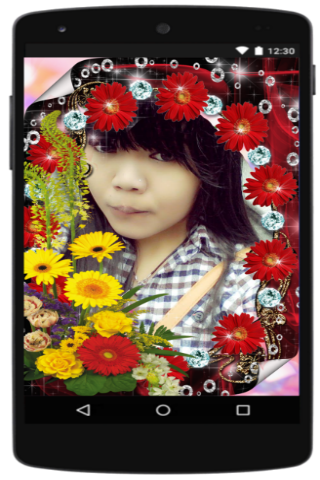 android Photo Frame Flower Screenshot 2