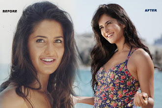 Photo: British Indian actress Katrina Kaif appears to have done some work on her lips and cheeks. Her nose surgery is pretty obvious, just watch her nose in earlier films and compare it with the sleek nose she carries these days. Now we get from where did she got the 'Barbie' look.