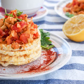 Vegan Breakfast Scramble with Chickpeas and Cauliflower {GF}.