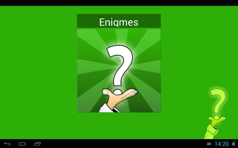Скриншот Énigmes