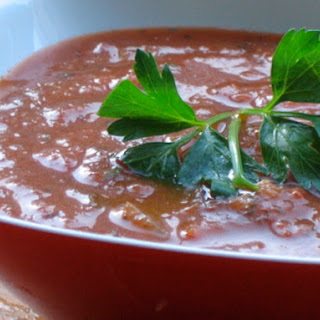 Tomato Soup with Roasted Garlic and Herbs Recipe