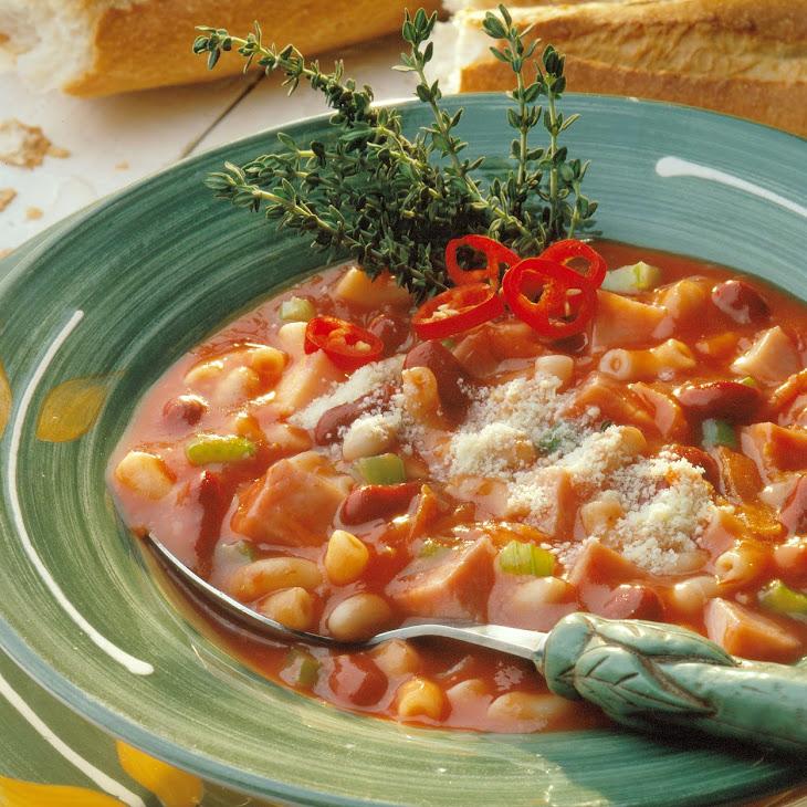 Smoky Pasta and Bean Soup