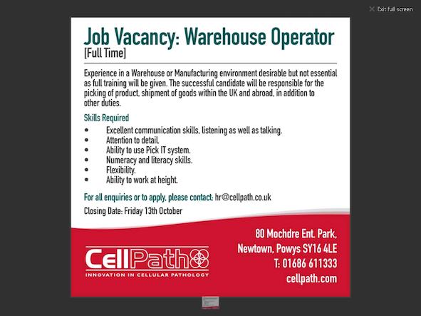 JOBS: Warehouse Operator