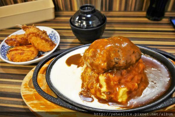 Premium壹番堂日式料理-漢堡雙醬顯層次,蛋包鐵板美佳餚