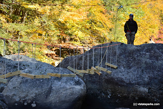 Photo: The bridge for the Adventure Race 2016 at Jamaica State Park by Bill Steele