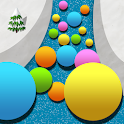 Snowball : Drag the balls in a snow icon