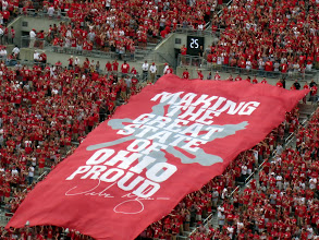 Photo: This was draped over the student section when the players took the field.