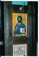 Photo: Christus Pantocrator : rechts van de koninklijke deuren