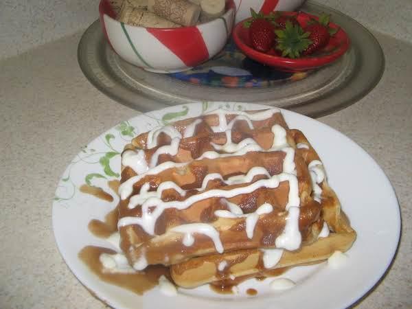 Crunchy Cinnamon Waffles