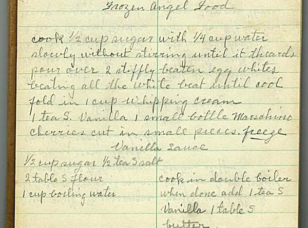 Sorry, No Picture Of The Food, But Here Is A Picture Of Mom's Handwritten Recipes. You May Notice That I Had To Kind Of Decipher It In Order To Post It. Easy To Read, Though Because Of Her Nice Handwriting (in Pencil!!).