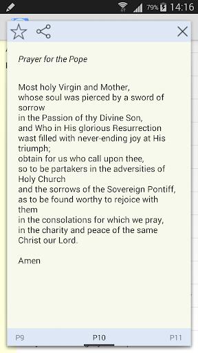 Pope Prayers